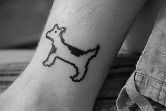 Stephen Hackett's Dog Cow Tattoo