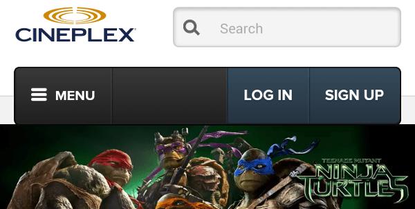 Cineplex Web Site