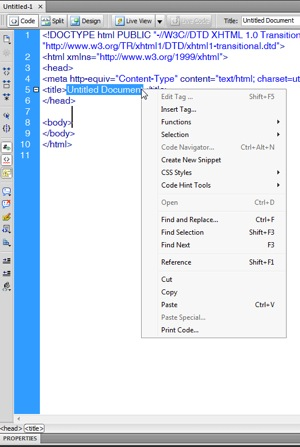 Dreamweaver's right click is more inline with other MS programs