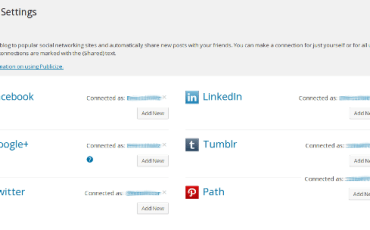 WordPress Social Sharing