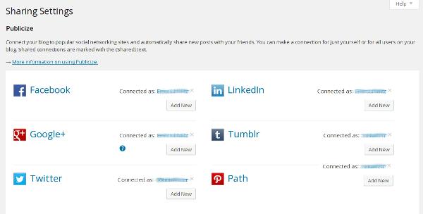 WordPress Social Sharing
