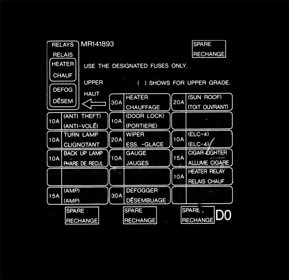 1998 mitsubishi montero sport fuse diagram