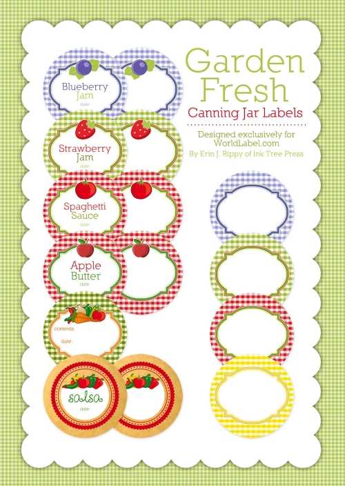 Canning jar labels for Jelly jar label template