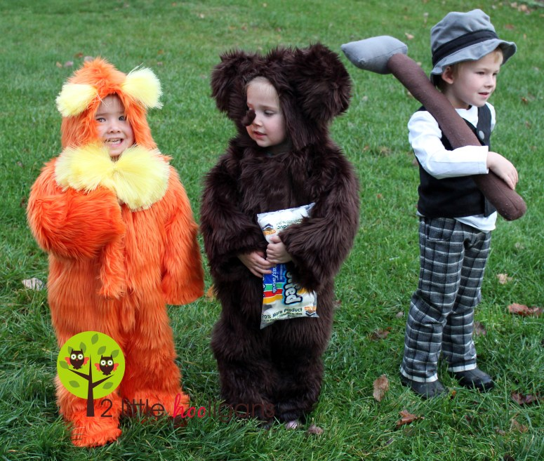 The Once-ler, The Lorax and a Brown Bar-ba-loot {Handmade Halloween Costumes}