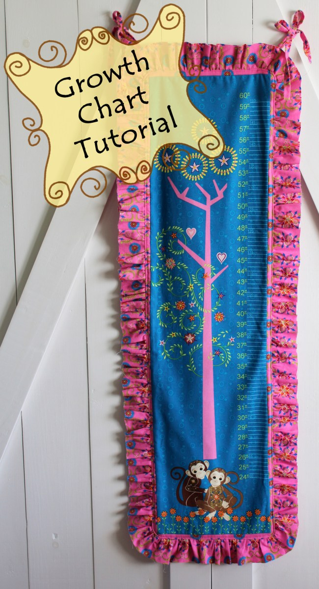 fabric growth chart tutorial and 2 giveaways