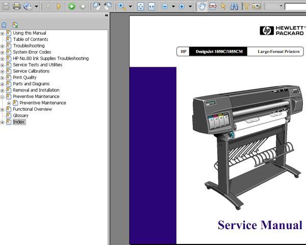 hp t2300 plotter manual