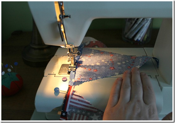 Sewing Pennant Flags Together