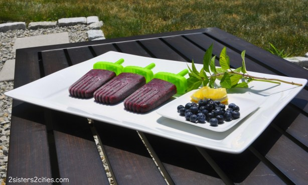 blueberry lemon mint popsicle