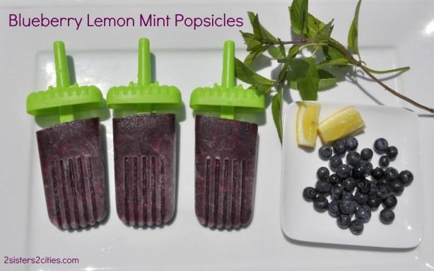 Blueberry Lemon Popsicles