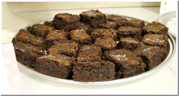 Sea Salt Caramel Brownies Platter