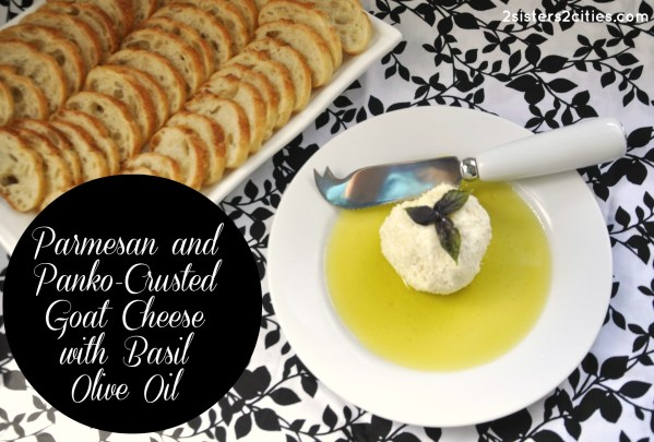 goat cheese with basil oil