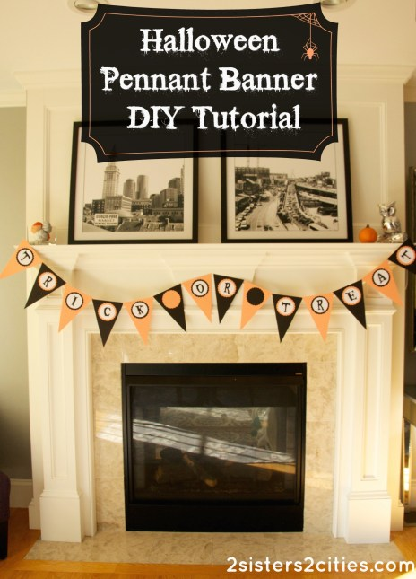 Halloween Pennant Banner DIY Tutorial