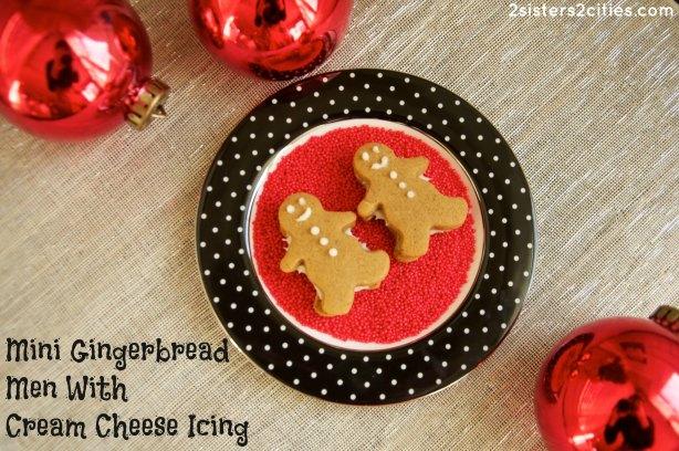 Mini Gingerbread Men with Cream Cheese Icing
