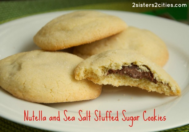 Nutella and Sea Salt Stuffed Sugar Cookies