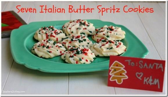 Seven Italian Butter Spritz Cookies