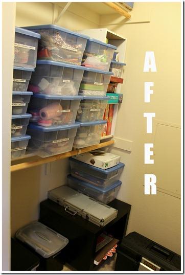 Closet and Craft Organization After