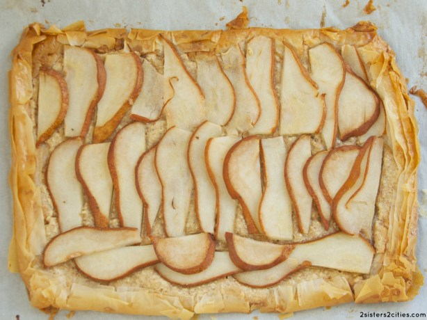 almond pear tart {from 2 sisters 2 cities}