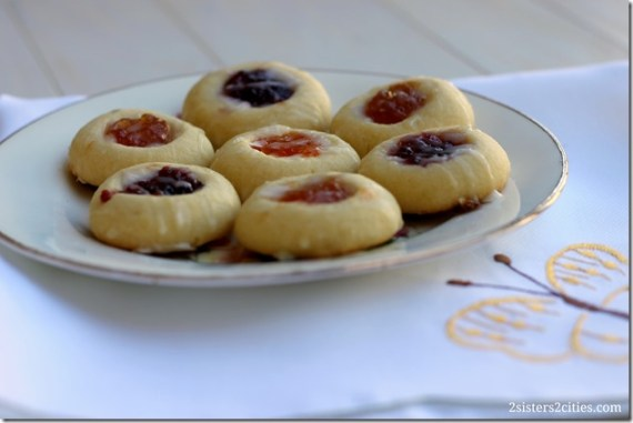 Plate of Thumbprint Cookies