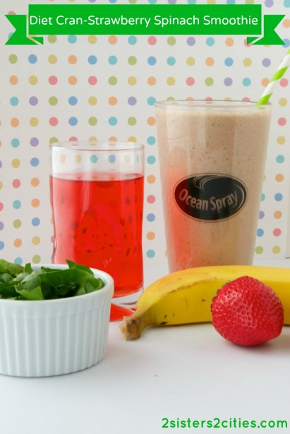 Diet Cran-Strawberry Spinach Smoothie