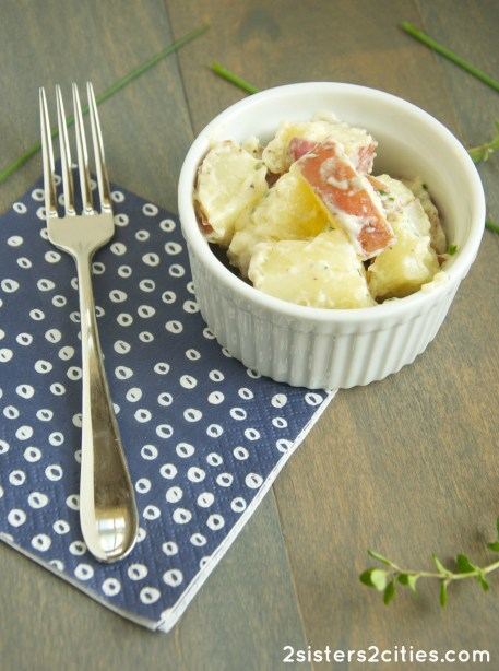 Bowl of Herbed Potato Salad