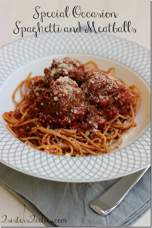 Special Occasion Spaghetti and Meatballs