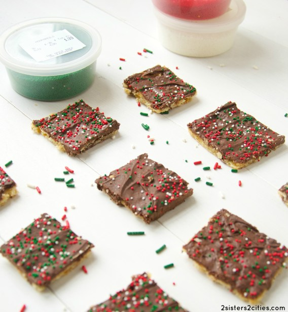 Chocolate Toffee Crackers (from 2 Sisters 2 Cities)