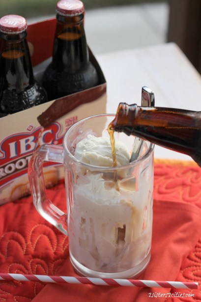 Root Beer Poured into Float