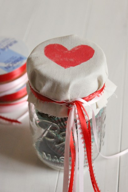 Tie Ribbon on Jar