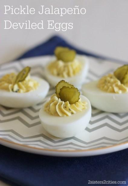 Pickle Jalapeño Deviled Eggs