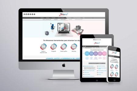 2tono página web con responsive design