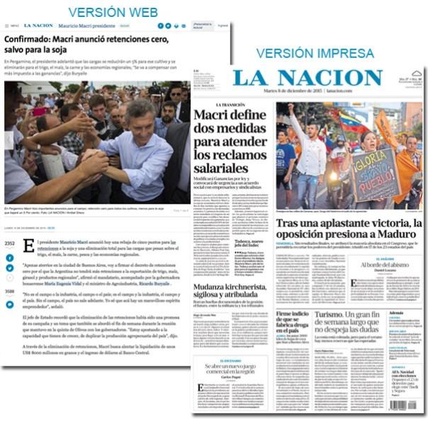 Periódico La Nación - Argentina