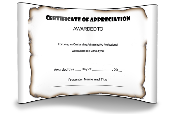 2win Design Appreciation Certificate