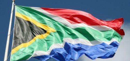 South African flag, Port Elizabeth, Eastern Cape, South Africa