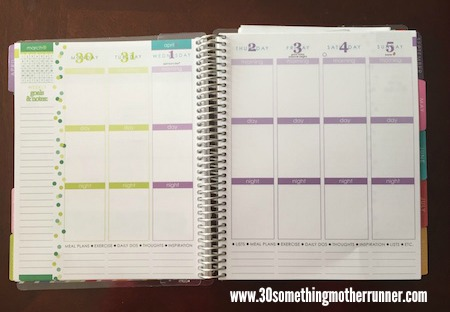 Erin Condren Life Planner Week View