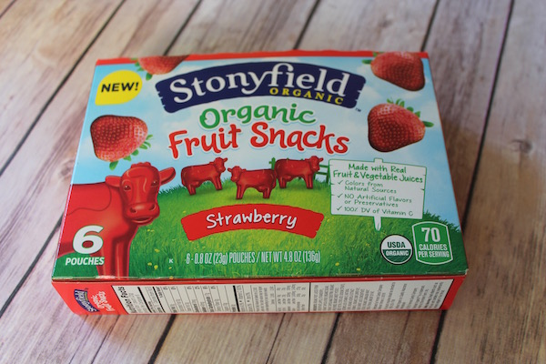 Stonyfield Frruit Snacks Box
