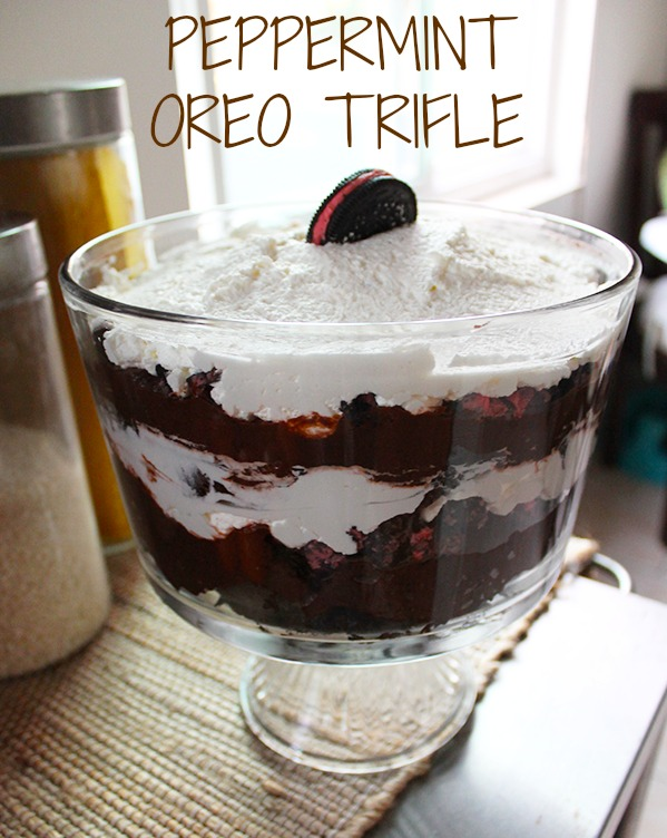 Peppermint Oreo Trifle