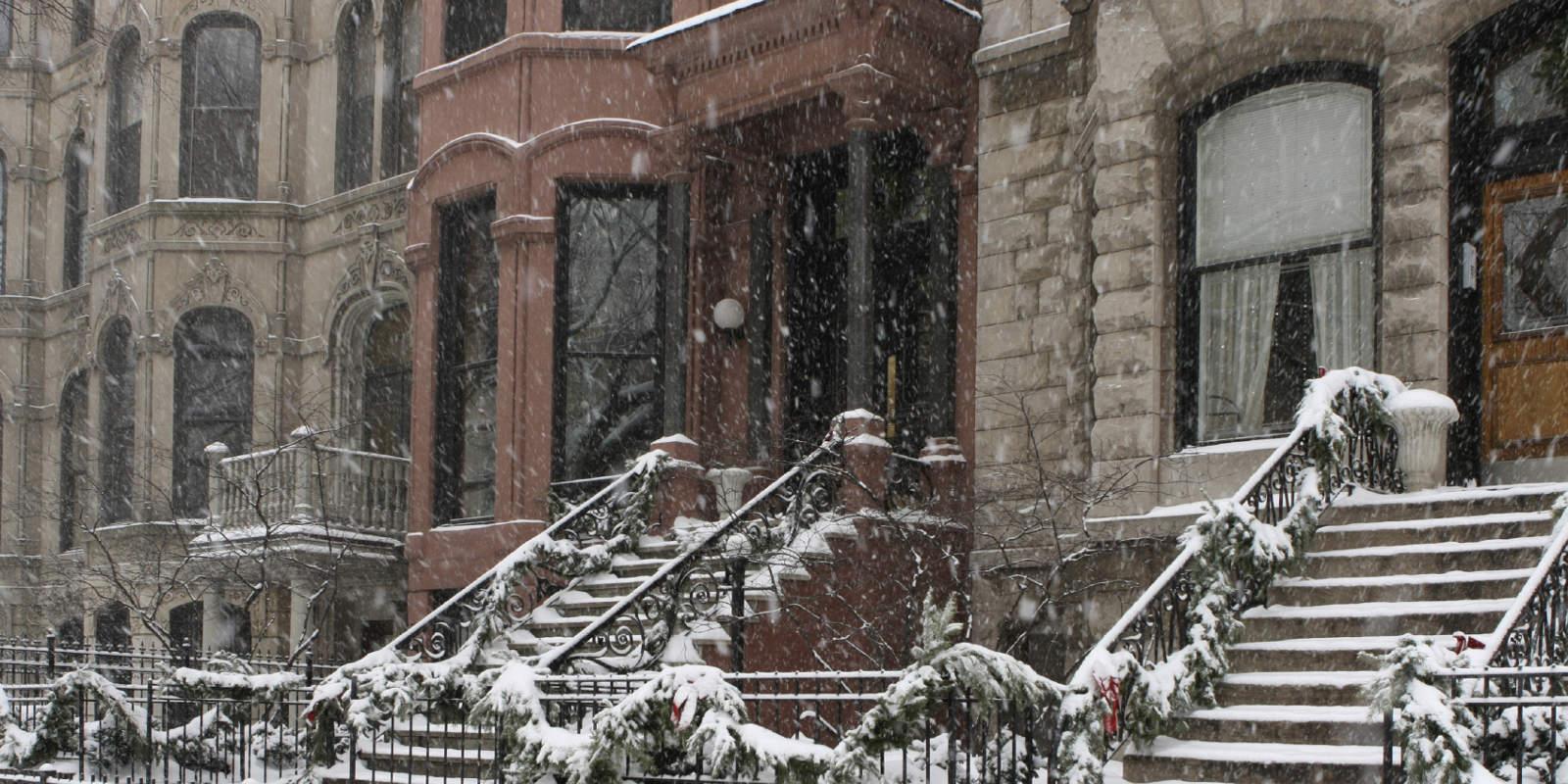 04 Row Homes w snow