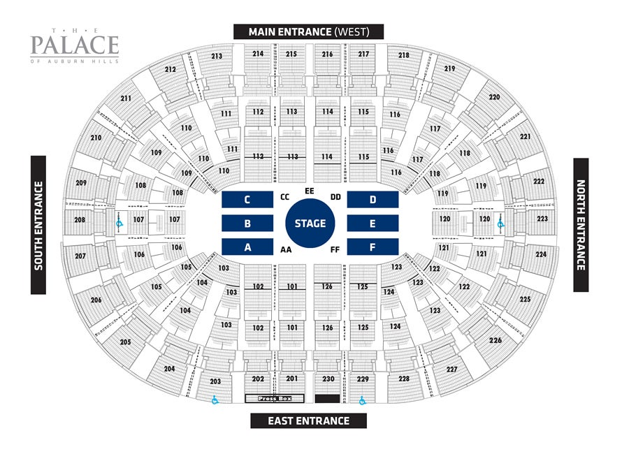 Palace Of Auburn Hills Seating Chart With Seat Numbers Awesome Home