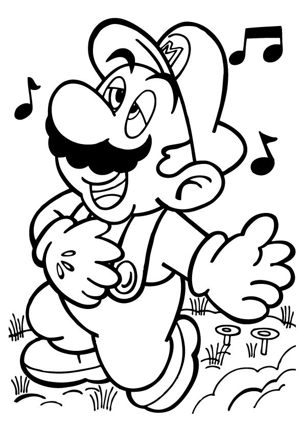 Mario Coloring Pages 360ColoringPages - mario coloring pages