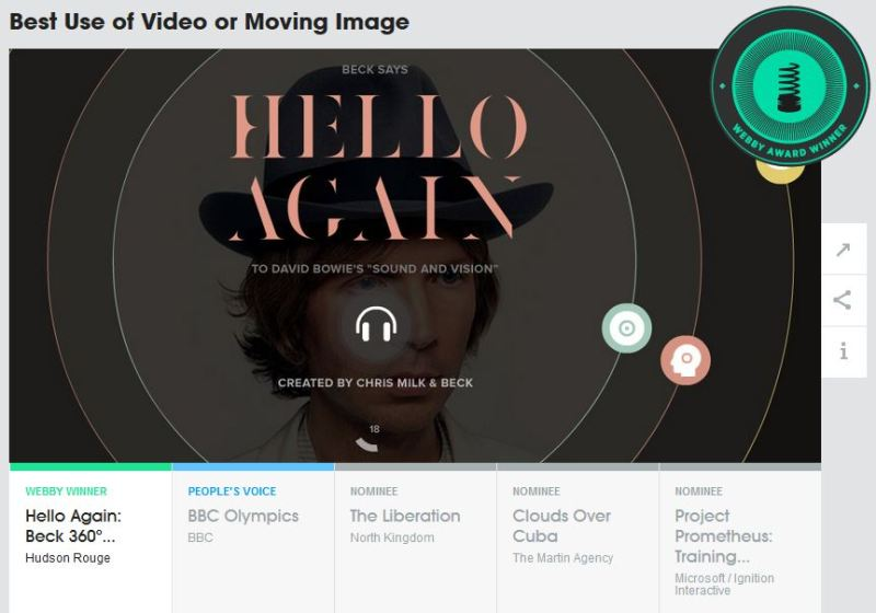 Webby Award - Best Video or Moving Image