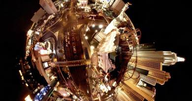 Tinyplanet shot of the Las Vegas strip