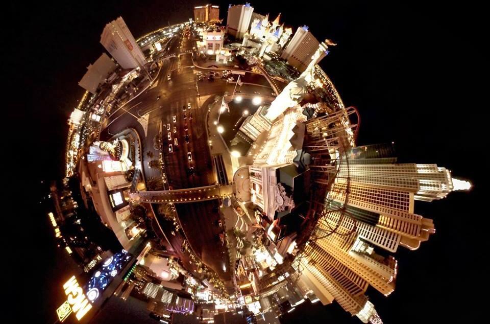 Tinyplanet shot of the Las Vegas strip