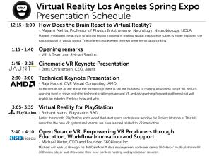 VRLA Presentation Schedule