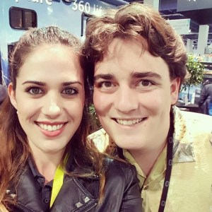 360Heros team member Jami Todd with Oculus Rift creator Palmer Luckey.