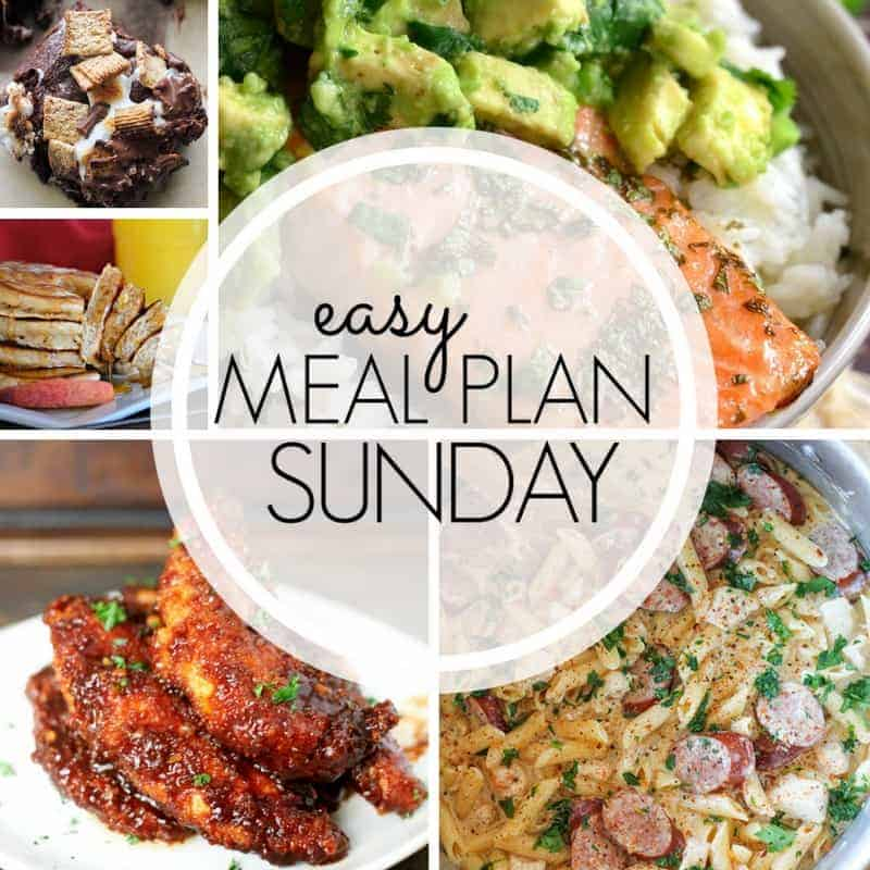 Easy Meal Plan Sunday {Week 96} - 365 Days of Baking and More - how to plan weekly meals for two