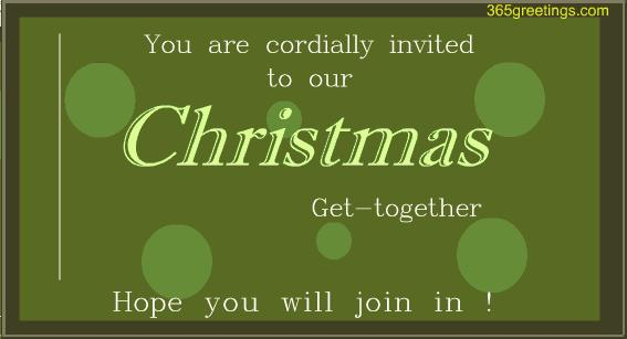 Christmas Get-together Invitation card - Post Card From 365greetings