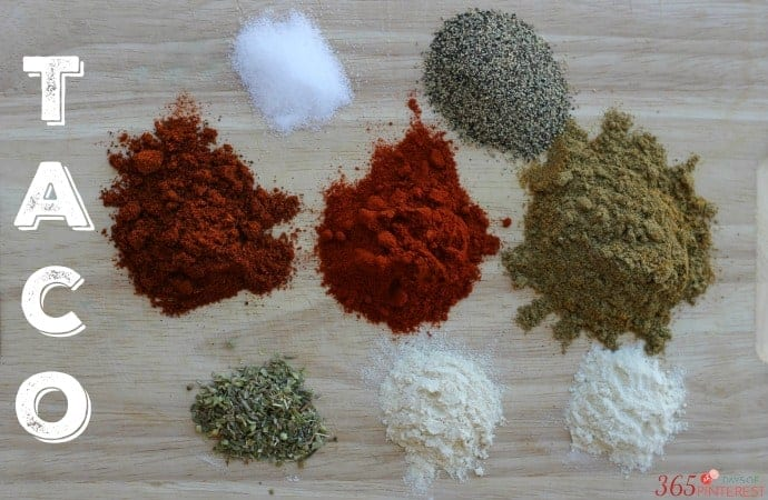 Homemade Mild Taco Seasoning - 365ish Days of Pinterest
