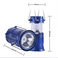 Collapsible Solar Rechargeable Led Camping Lantern Light ...