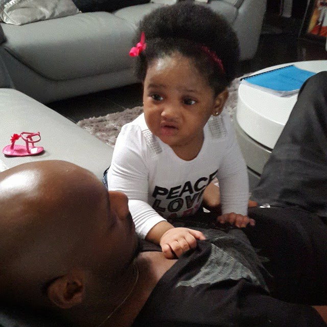 Olivia is Annie Idibia's second daughter