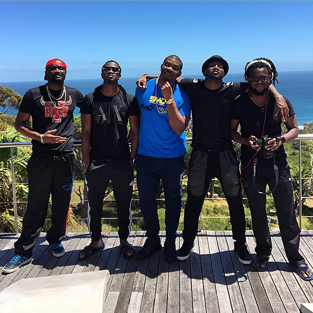 Don Jazzy, P Square, Peter Okoye, Jude Engees, Paul Okoye, CLarence Peters